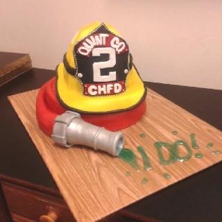Groom's cake for a firefighter