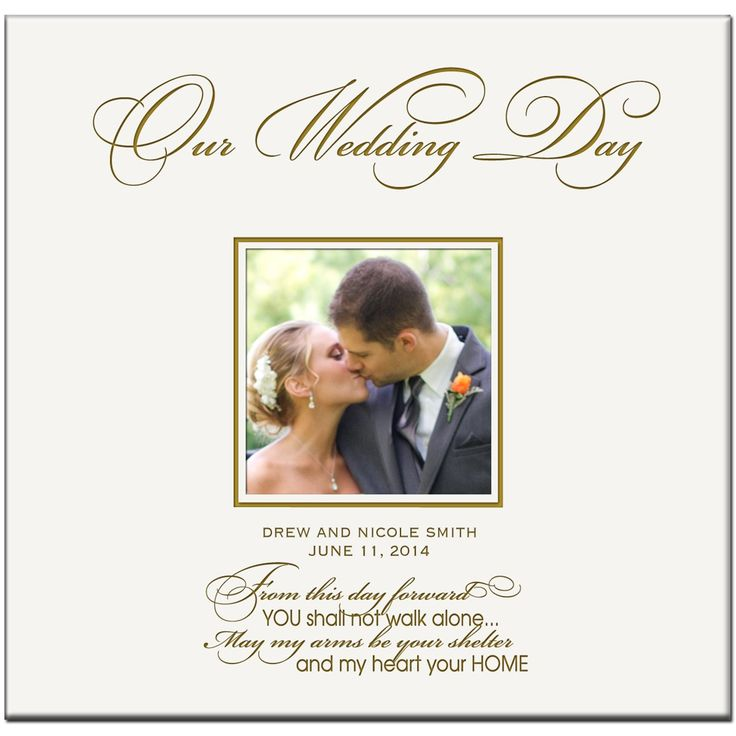 Amazon.com: Personalized Wedding Photo Albums Our Wedding Day Holds 200 4x6 Photos Custom Made Wedding Anniversary Gifts By Dayspring Milestones: Home & Kitchen