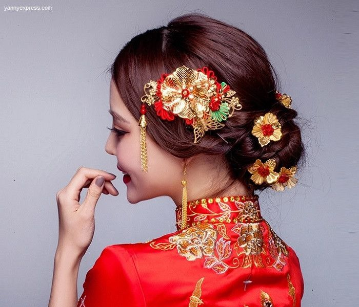 Asian Wedding Hairstyle: 265 Best Images About Wedding Qipao / Cheongsam Bridal Kwa