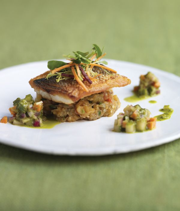 This seared black bream recipe from Vivek Singh is restaurant-quality without being particularly rigorous, the dish only takes 75 minutes to produce and the cooking techniques used are straightforward. - Vivek Singh