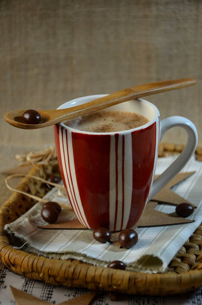 Smoothie chocolat-café au lait d'amande // chocolate and coffee smoothie with almonds milk