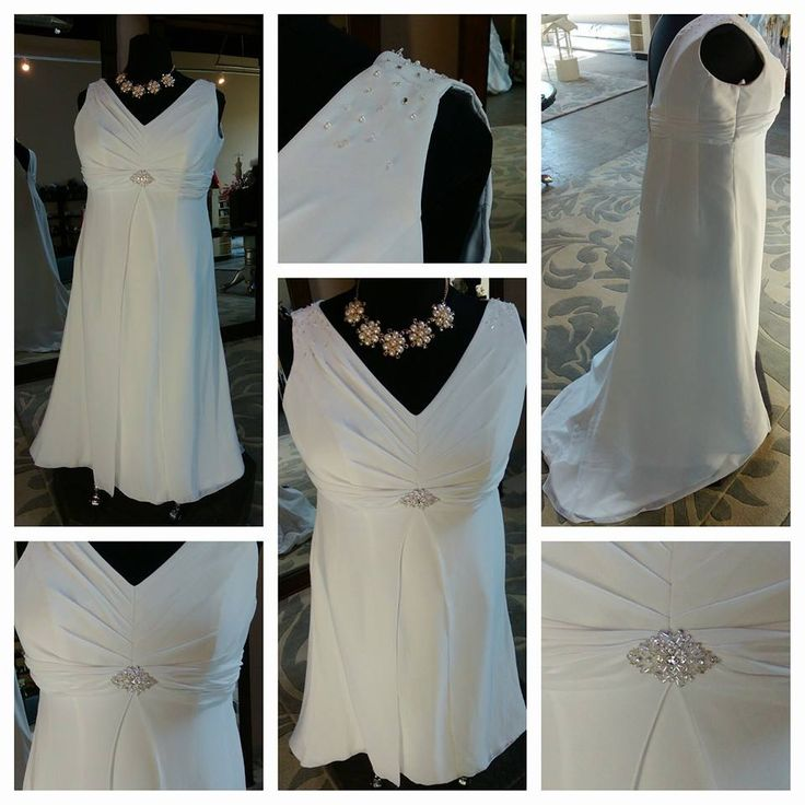Galina Sheath Gown Size: 20 Color: White Price: $200