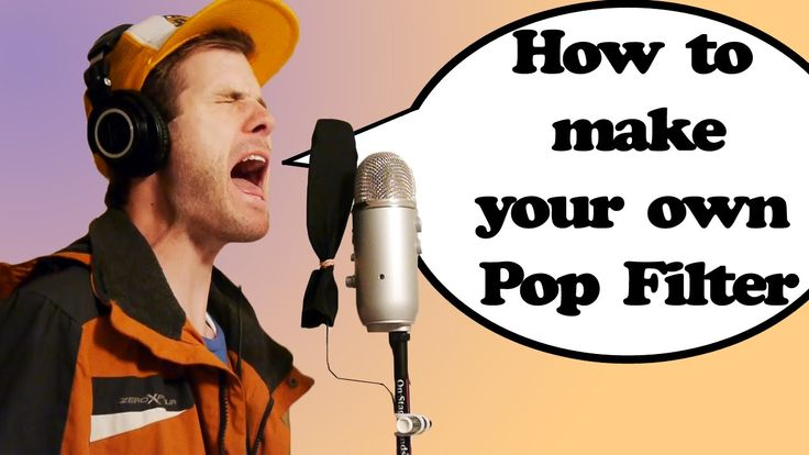 What Is a Pop Filter / How to Make One for CHEAP
