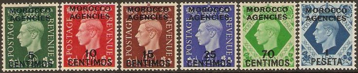 Morocco Agencies 1937 George VI Definitives Set. SG165-SG171. - Click Image to Close