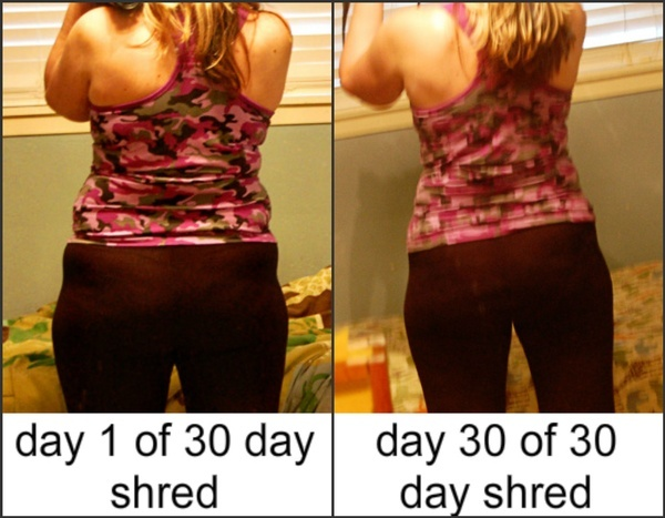 Shred in 30 Days Before and After
