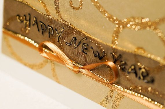 Golden Holidays Handmade Christmas Card Christmas by FancyArts $10.25 CAD