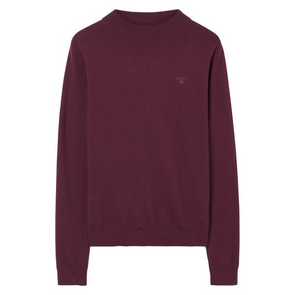 GANT - Cotton Wool Crew Sweater Purple Wine for women | Offisiell Nettside  Pris 1'000,-