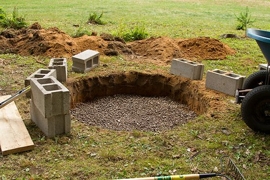 cinder block fire pits outside we filled the bottom with 2 of gravel to help with drainage. Black Bedroom Furniture Sets. Home Design Ideas