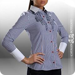 Aceasta camasa Catalin Botezatu este un must-have pentru o femeie puternica, dar in acelasi timp plina de feminitate. Este o camasa bussiness realizata 100% din bumbac de cea mai buna calitate. Imprimeurile tip carouri sau dungi dau un aer chic acestei camasi putand fii asortata atat unui pantalon uni din stofa fie unui jeans conic. Un aspect putin masculin iti va conferi aceasta camasa si de ce nu poti asorta aceasta camasa la un ceas masculin metalic din colectia de accesorii pentru femei…