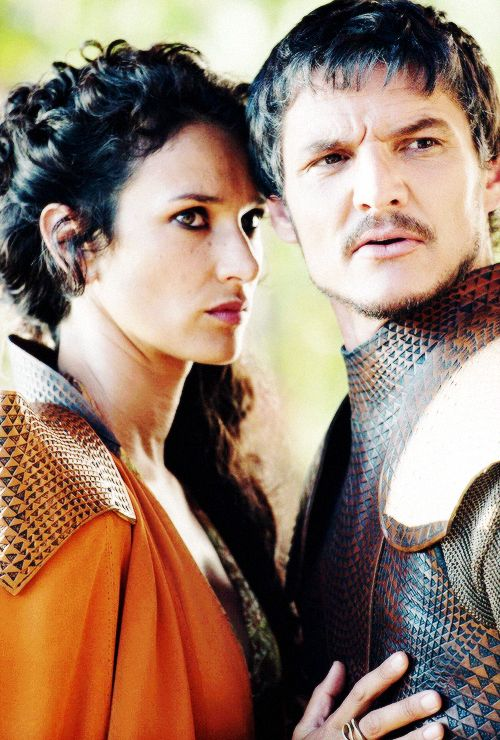 Yes to this couple!! The epitome of open relationship. Lol. My poor Oberryn Martel!! | Game of Thrones