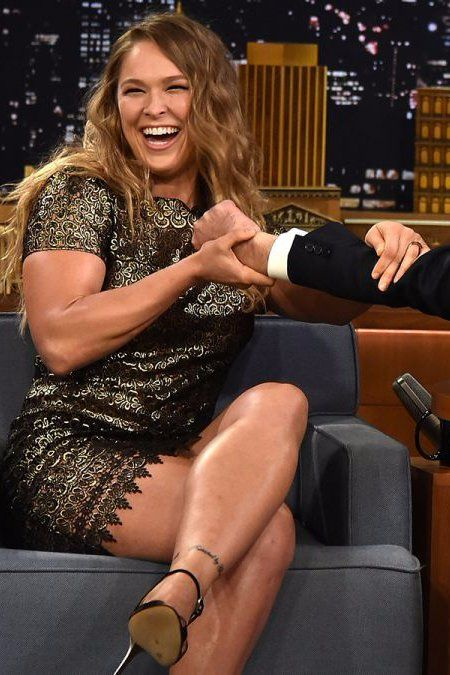 Pin for Later: Ronda Rousey Demonstrates to Jimmy Fallon Why She Dominates the UFC