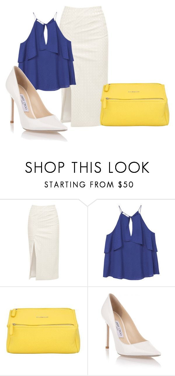"""""""Summer Business Outfit"""" by perezbarrios on Polyvore featuring Walk of Shame, MANGO, Givenchy and Jimmy Choo"""
