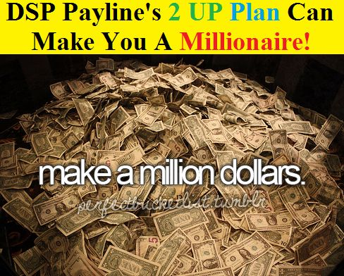 Digisoft payline's 2 UP Pay Plan Can Make You A Millionaire!