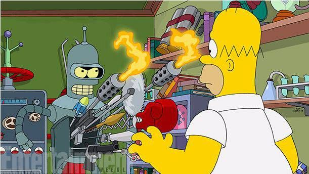 The Simpsons and Futurama - together at last