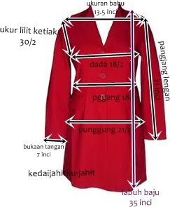 Panduan Mengambil Ukuran dari baju contoh