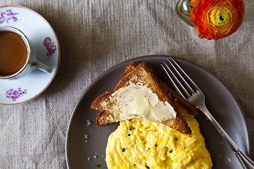 Daniel Patterson's Poached Scrambled Eggs Recipes — Dishmaps