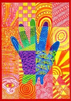 Teplé a studené barvy – ruka