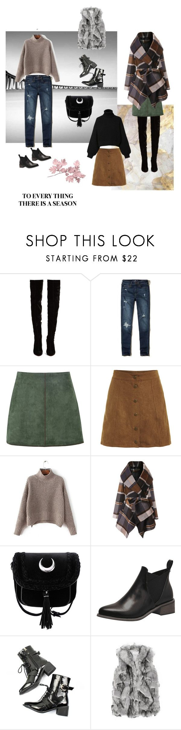"""""""Outfits for a season"""" by happiestime ❤ liked on Polyvore featuring Christian Louboutin, Hollister Co., George J. Love, Chicwish and Diesel"""