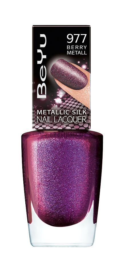 BeYu Metallic Affairs Metallic Silk Nail Laquer No. 977 / Berry Metall http://www.beyu.de/cosmetics/naegel/effektlacke/metallic-silk-nail-lacquer_id_1245_0.html