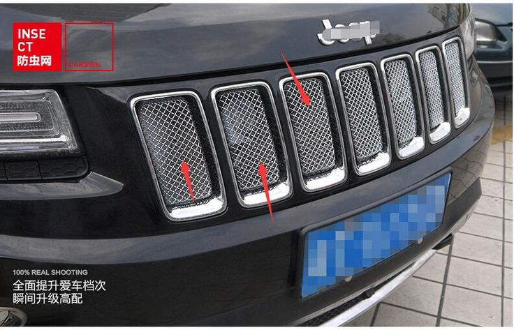 New For Jeep Grand Cherokee 2011 2012 2013 Front 3D Mesh Racing Grilles Insert Prevent Bug Dirt Grill