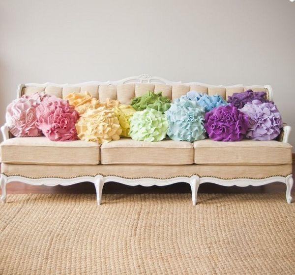 Ruffle Pillow Old Clothes Into Home Decor Statements