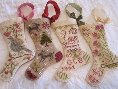 Katrina's Blackbird Designs stockings. Her site has some really gorgeous cross stitch!
