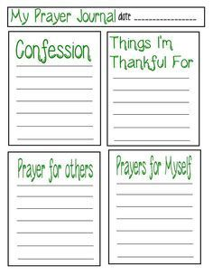 Write to your sponsored children about prayer and send them some of these printable prayer journal pages. #prayer #journal #printable