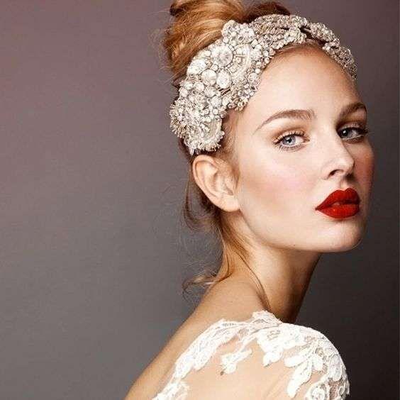 Trucco sposa - Rossetto rosso per il trucco sposa 2017