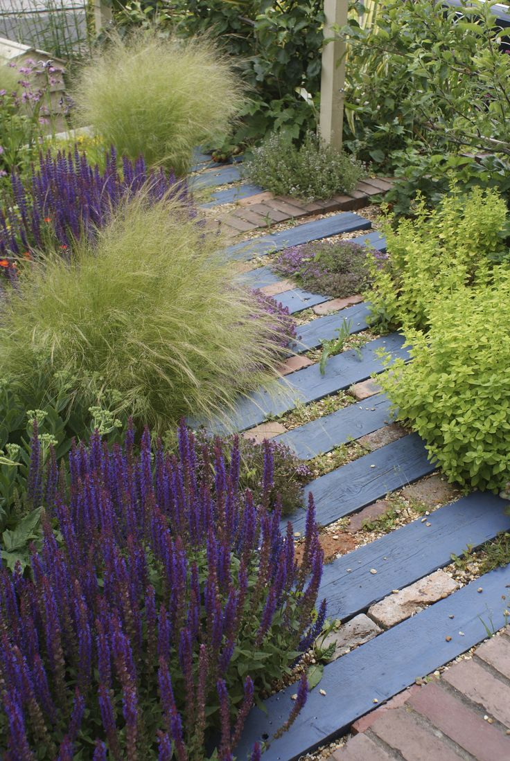 recycled timber and brick path, by wilddesignstudio