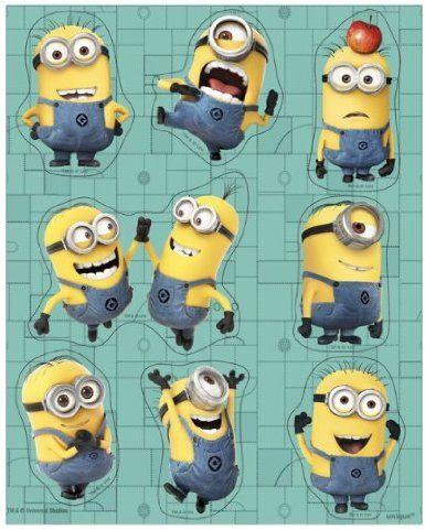 Amazon.com: Despicable Me Minion Party Stickers: Toys & Games