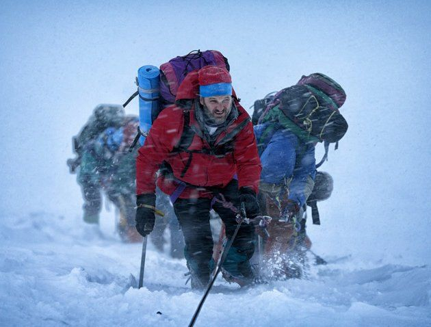 EVEREST..  2015 - A hiking expedition on Mt. Everest is devastated by a severe snow storm.  Keira Knightly, Robin Wright, Jake Gyllenhaal