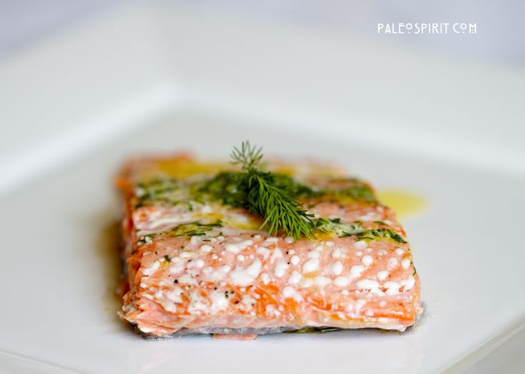 Wild Salmon with Lemon Dill Sauce: Whole 30 and Autoimmune Paleo-friendly (use ghee or olive oil)