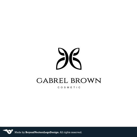 Cosmetic Premade logo butterfly logo Watermark Professional Logo Graphic Designer Sophisticated Logo Design Modern Luxury Cosmetic Brand by BVLogoDesign on Etsy