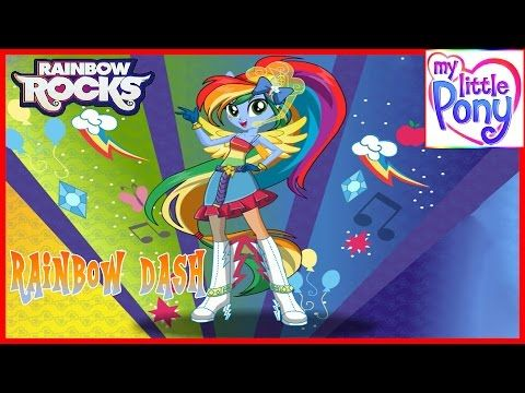 MLPEG - Rainbow Rocks Rainbow Dash Rainbooms Style Dress Up Game - MLP-EG