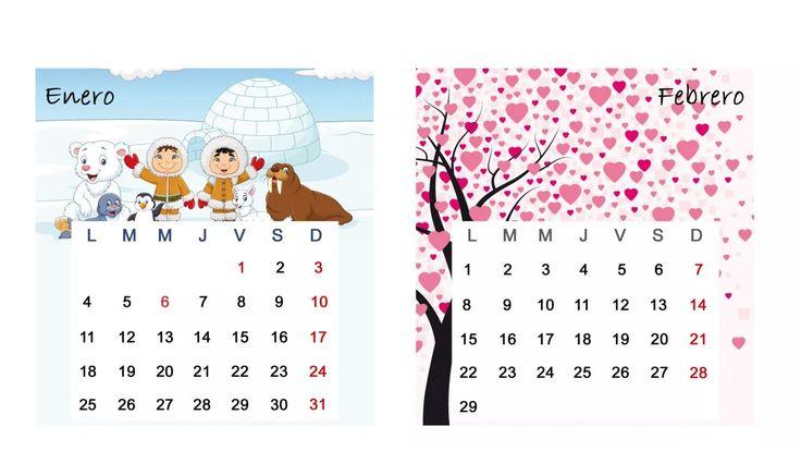 Calendario de mesa 2016 - Enero y febrero