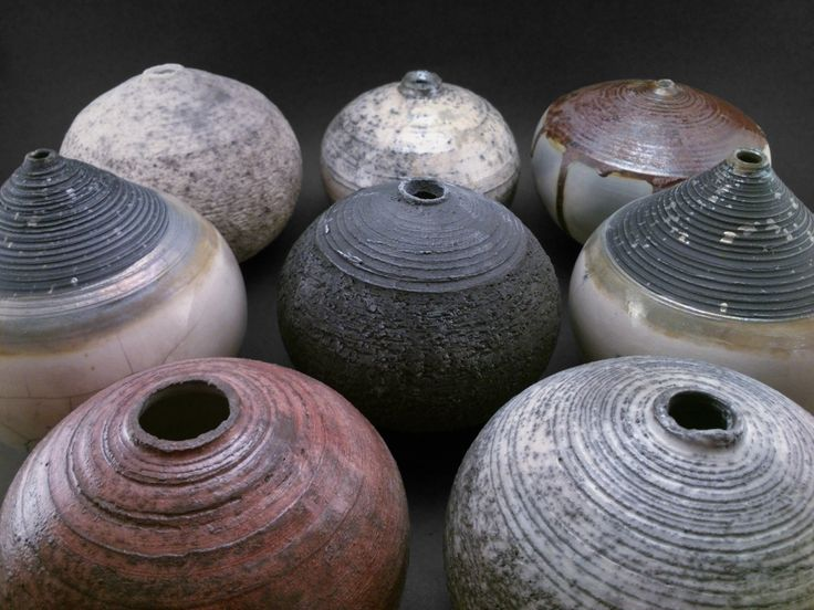 The Dark Side: Whispering Globes - Ildikó Károlyi #ceramics #raku #design