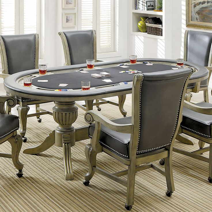 Furniture of America Frankline Traditional Leatherette/Flannelette Game Table with Flippable Wooden Cover | Overstock.com Shopping - The Best Deals on Casino & Poker Tables