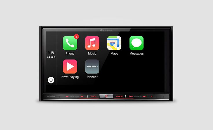 """Pioneer NEX Receivers with Apple CarPlay   Cool Material. In-Dash navigation systems are available in most new cars these days, but when your phone connected via Bluetooth things are limited. There's also that whole """"new car"""" thing, anything older than a few years, you're pretty much sol when connecting your phone. If you have an iPhone, you're going to want Apple's CarPlay for your music, phone calls, message, Maps & everything else Siri can do while you're driving."""