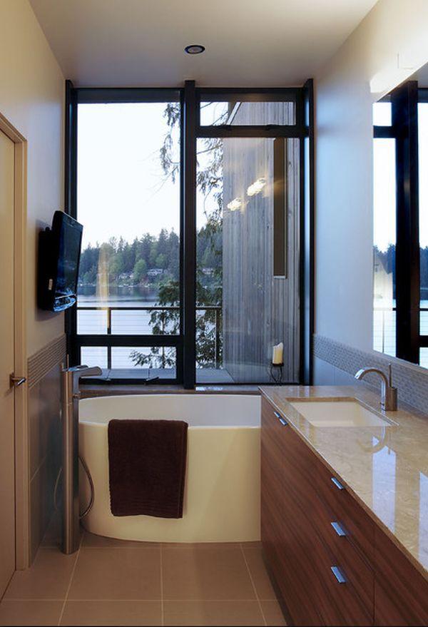 Best Small Full Bath Ideas Images On Pinterest Bathroom - Small narrow bathroom ideas with tub