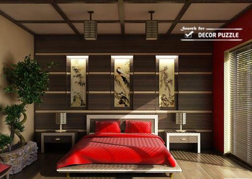 Perfect Modern Japanese Style Bedroom Wall Decor Ideas