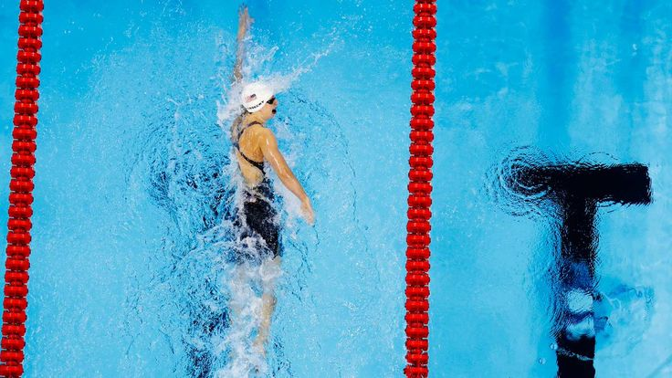 NBC Olympics @NBCOlympics  10h10 hours ago Katie Ledecky wins first individual gold of 2016 Olympics in 400m free with world record: http://tw.nbcsports.com/8iI5