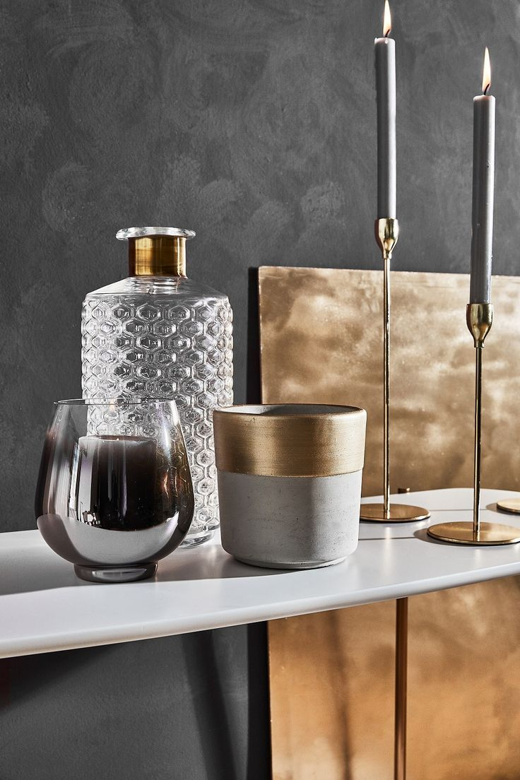 Pure Elegance The Home Accessories In Gray And Gold Radiate Pure Extravagance And Accessories Elegance Extra Grey And Gold Grey Decor Home Accessories