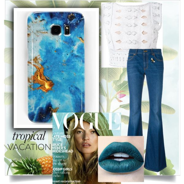 Blue dream by ioanaturcanu on Polyvore featuring Alberta Ferretti, Gucci and Misha