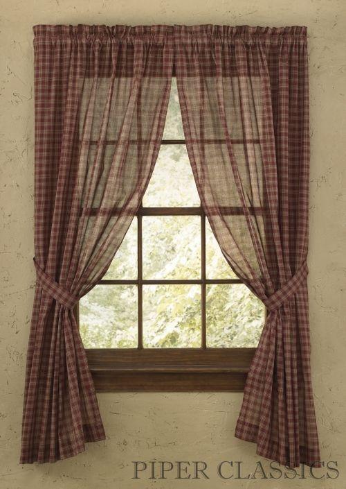 Sheer Curtains 63 sheer curtains : Country Sheer Curtains | Sturbridge Black Sheer Panels 63