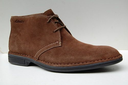 Clarks Mens Active Air Casual Boots Daily Craft Smokey Brown Suede UK 10.5