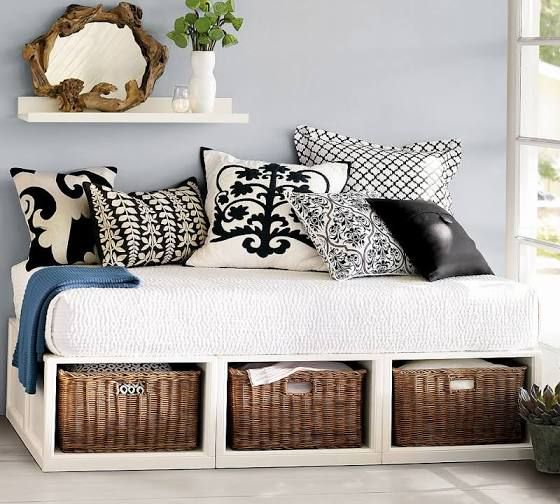 full daybed frame with storage