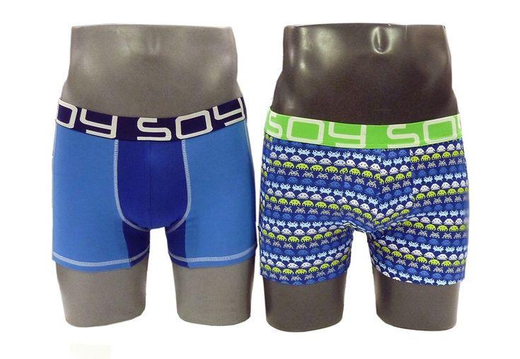 MIRA la NUEVA COLECCIÓN de prendas Soy Underwear compuesta por dos boxers muy informales y divertidos. UN boxer liso y otro con marcianitos. OFERTA.