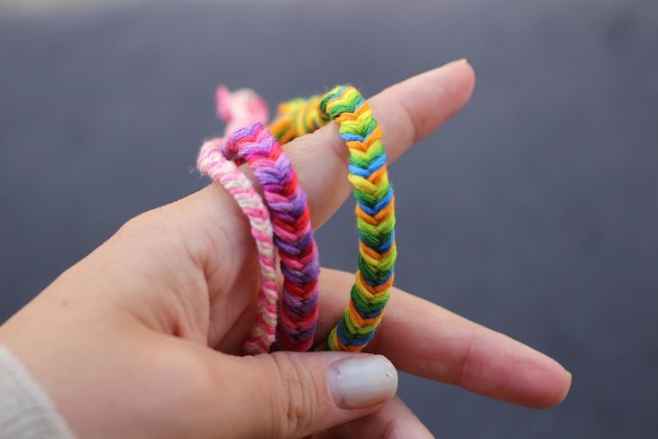 fishtail braid friendship bracelet