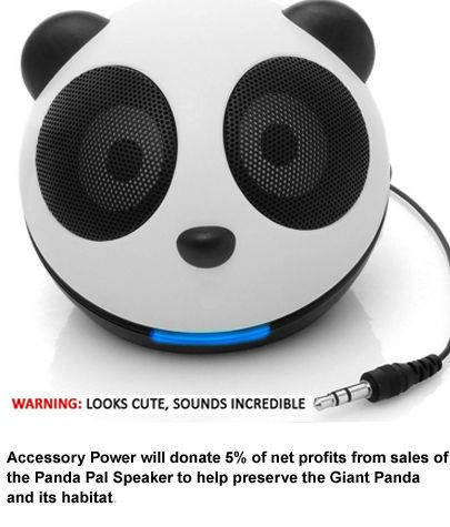 Because a real panda costs too much. CNET Exclusives: GOgroove Panda Pal High-Powered Portable Mini Speaker System, $16.99. Helps save the Giant Panda!