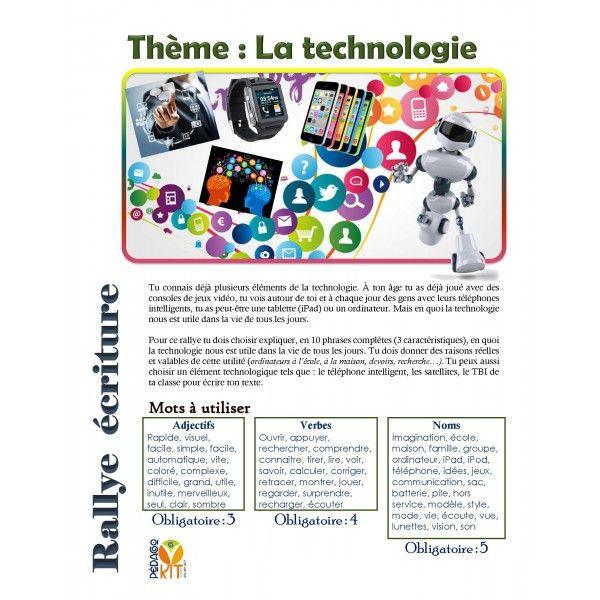 Français Rallye écriture technologie